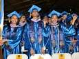Graduates enjoying their commencement ceremony from NYIT-Old Westbury,