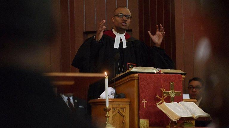 Rev. Malcolm J. Byrd, pastor of Jackson Memorial