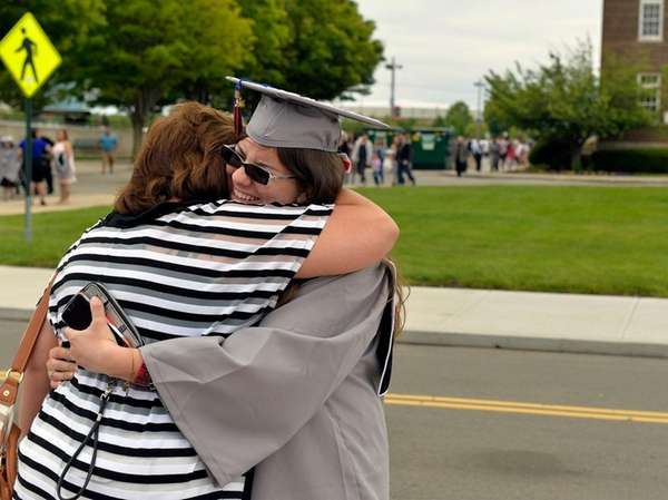 Melissa Contino, 20, from East Meadow, gets a