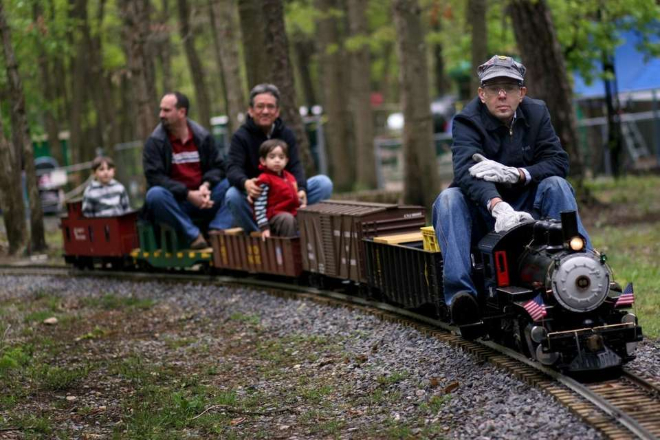 The miniature trains take passengers on a looped