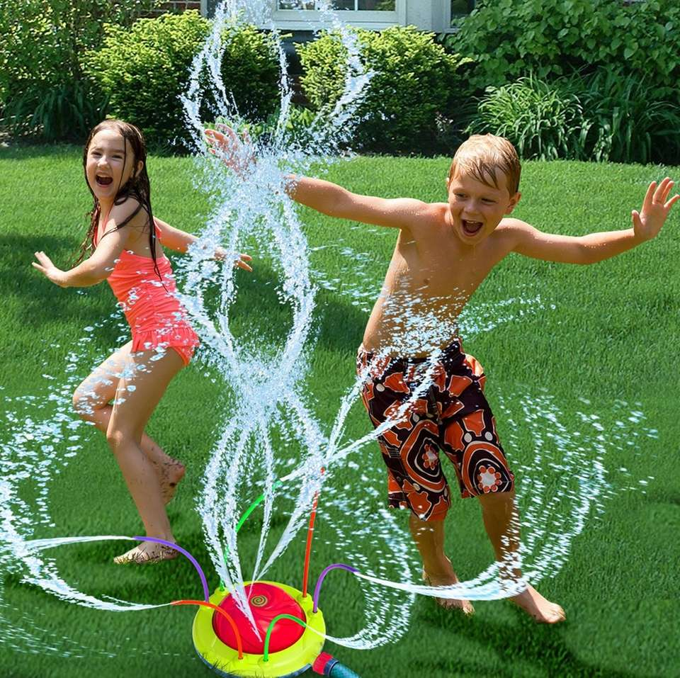 A fun twist on sprinkler fun, the Hydro