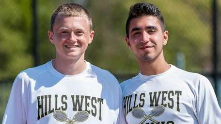 Half Hollow Hills West doubles team Jackson Weisbrot,