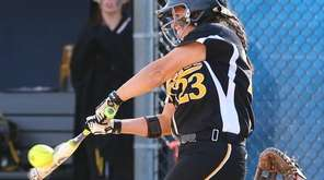 Commack's Nicole Principe hits a single that led