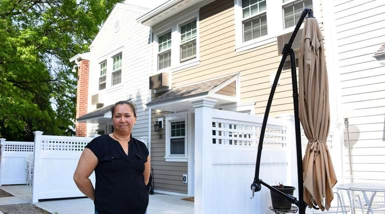 Resident Monica Morocho at a recently renovated North