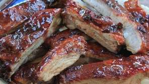 Sweet and savory spare ribs are seasoned with