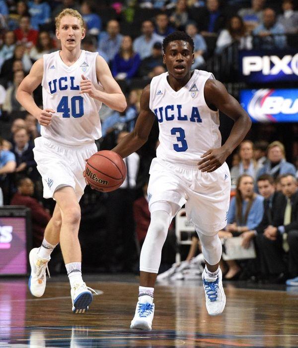 UCLA Bruins guard Aaron Holiday brings the ball