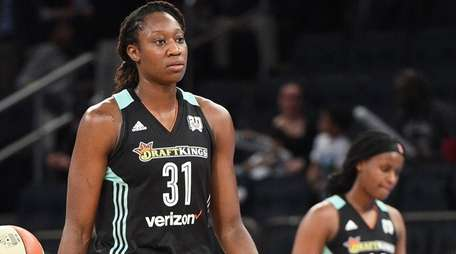 New York Liberty center Tina Charles and New