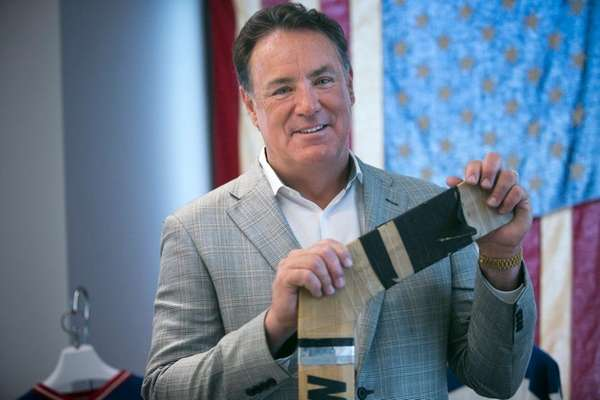 Former Olympic hockey goalie Jim Craig poses in