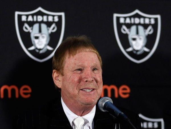 Oakland Raiders owner Mark Davis speaks during a