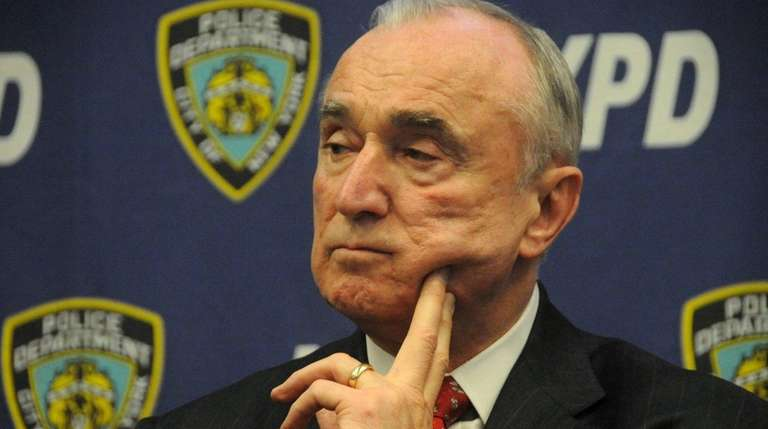 NYPD Commissioner William Bratton is shown here on