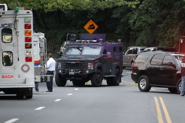 Nassau Police are at the scene where it's