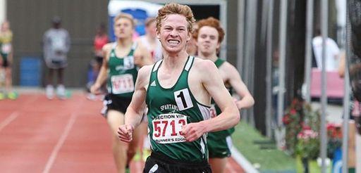 Valley Stream North's Jake Catalano runs toward finish