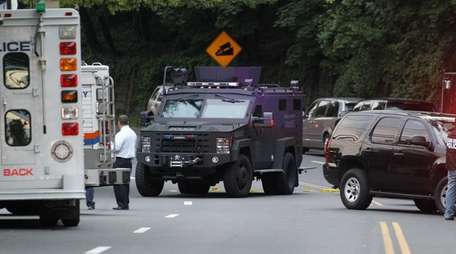 Nassau County police respond on Tuesday afternoon, May