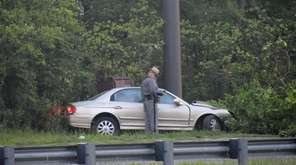 State Police investigate a single-vehicle accident in which