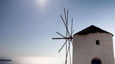 Channel Santorini (pictured) at the Grecian Festival at