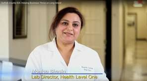 Monica Bhasin, lab director at Health Level One