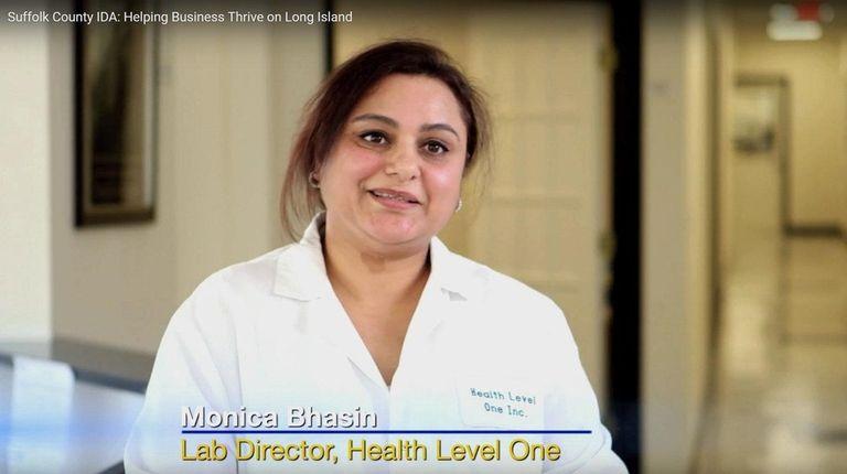 Monica Bhasin, lab director at Health Level One