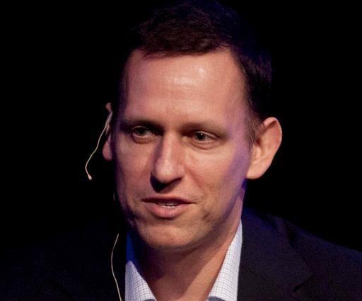 Clarium Capital President Peter Thiel speaks during his