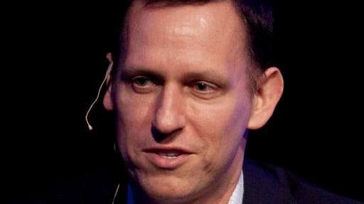 Clarium Capital President Peter Thiel speaks during his