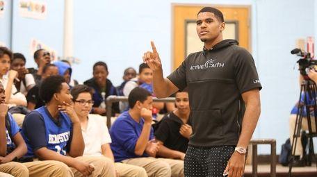 Long Island native and Detroit Pistons forward Tobias