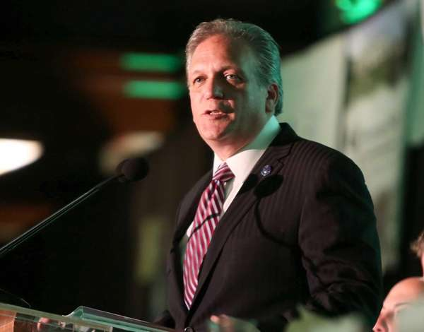 Nassau County Executive Ed Mangano speaks in Woodbury