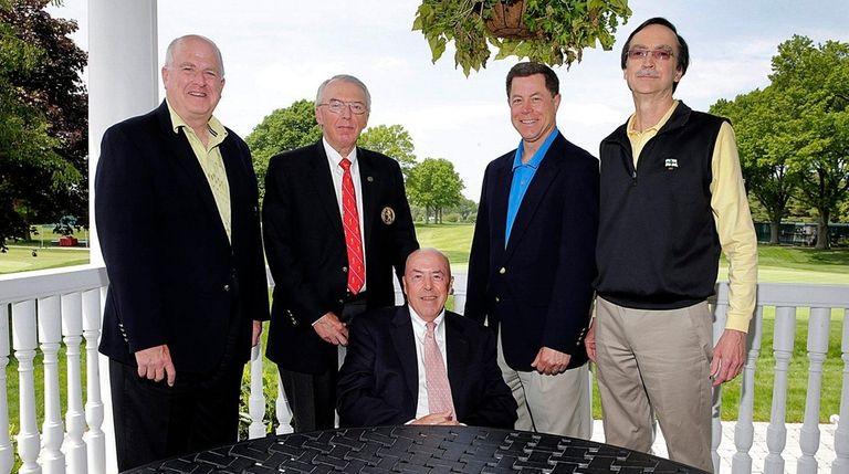(l-r) Tim Finnegan, president of Huntington Country Club,