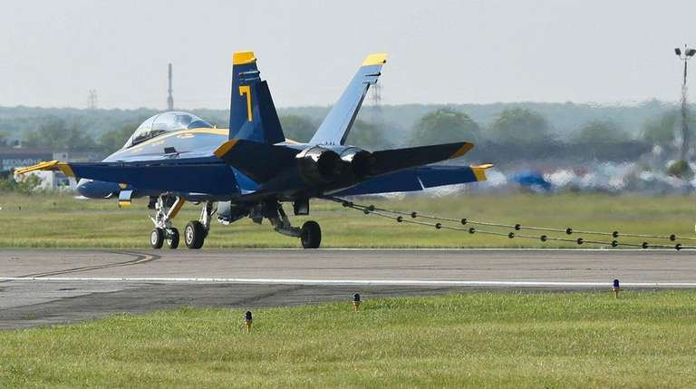 Blue Angel plane No. 7 snags an arresting