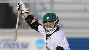 Locust Valley's Tyler Liantonio #7 celebrates after scoring