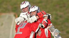 Connetquot's G.Q. Grippo, left, Jake Piccininni, center, and