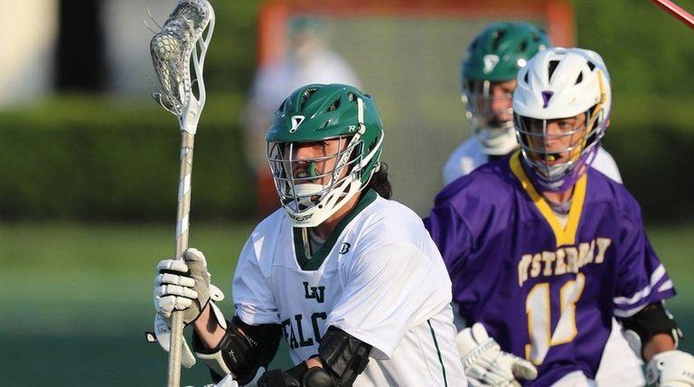 Locust Valley's Tyler Liantonio #7 picks up a