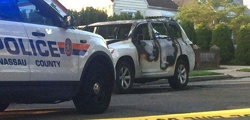 Nassau County police respond to Stone Street in