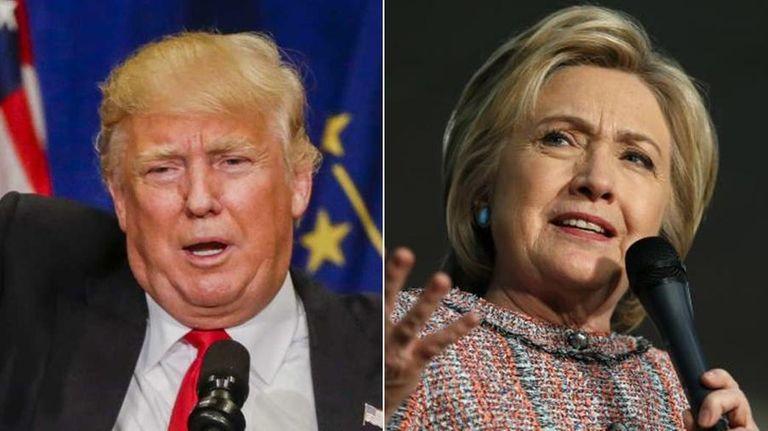 Republican presidential candidate Donald Trump, left, and Democratic