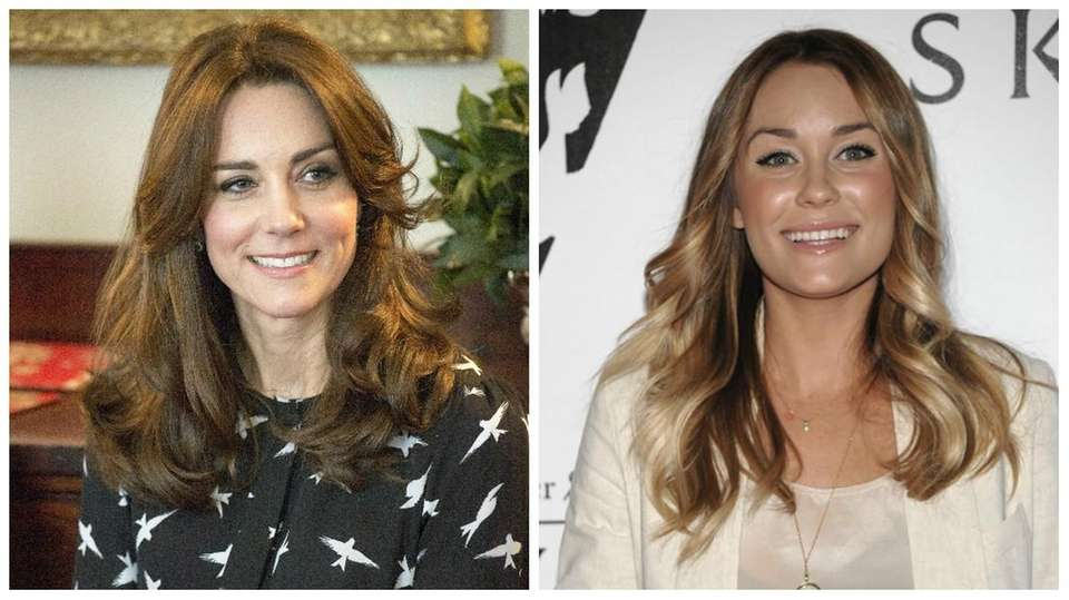 Duchess of Cambridge Kate Middleton, left, and television