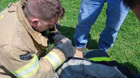 The Bay Shore Fire Department rescued three baby