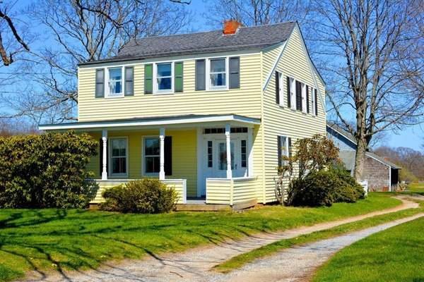 This Southhold farmhouse, built in 1820, sits on