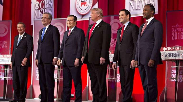 Six of the 17 GOP nomination contenders on