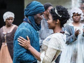 Malachi Kirby and Emayatzy Corinealdi star as Kunta