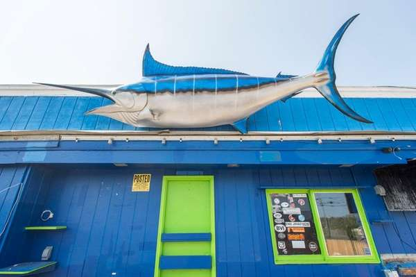 A marlin will be among the items at
