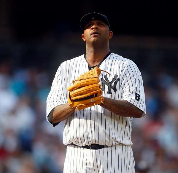 CC Sabathia of the New York Yankees stands