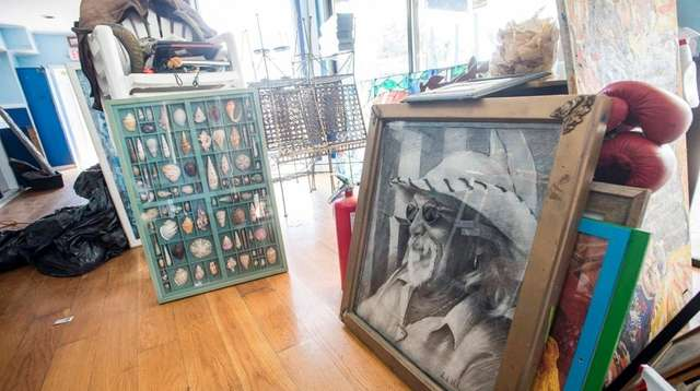 Items For Sale At Cyrils Fish House In Montauk Included A Portrait Of Owner Cyril Fitsimons Photo Credit Gordon M Grant