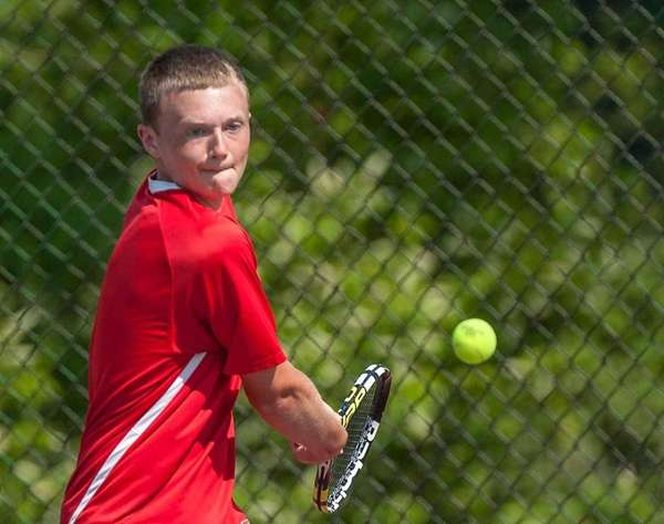 Half Hollow Hills West's Jackson Weisbrot during the