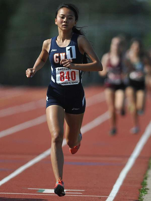 Samantha Law, Great Neck North sophomore, stays ahead