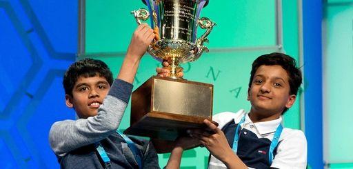 Nihar Janga, 11, of Austin, Texas, and Jairam