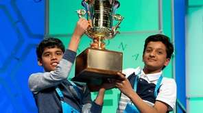 Nihar Janga, 11, of Austin, Texas, and Jairam