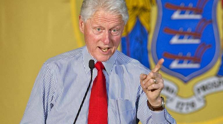 Former President Bill Clinton campaigns for his wife