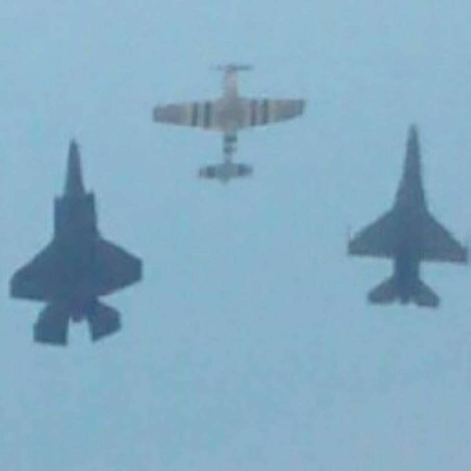 Heritage flight: F16, trainer, and F35