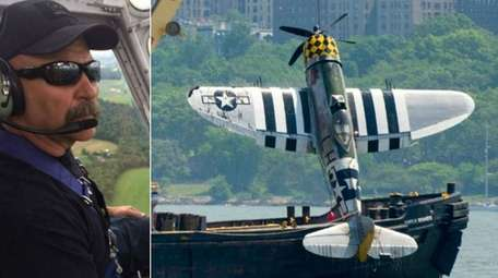 The World War II vintage P-47 Thunderbolt that