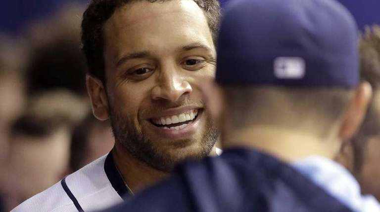 James Loney after a home run off Jacob