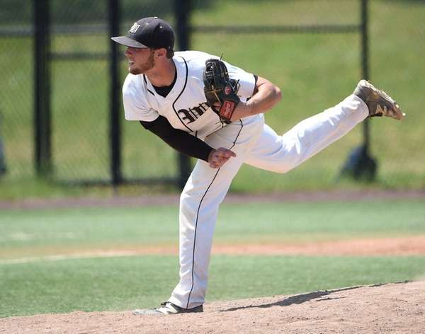 Wantagh's Jimmy Joyce pitching against JFK Bellmore in