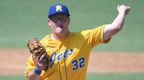 East Meadow starting pitcher Ryan Wallstedt delivers a